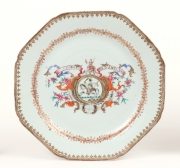 View 2: Pair of Chinese Export Armorial Plates, c. 1760