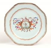 View 3: Pair of Chinese Export Armorial Plates, c. 1760