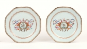 View 7: Pair of Chinese Export Armorial Plates, c. 1760