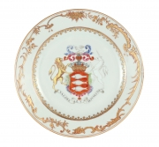 Chinese Export Armorial Plate Made for the Irish Market, c. 1750