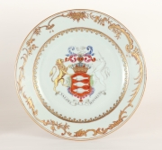 View 4: Chinese Export Armorial Plate Made for the Irish Market, c. 1750
