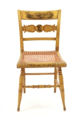 View 5: Set of Four New York Yellow Fancy Chairs with Benjamin Franklin, c. 1820