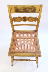 View 6: Set of Four New York Yellow Fancy Chairs with Benjamin Franklin, c. 1820