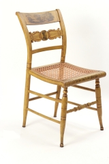 View 8: Set of Four New York Yellow Fancy Chairs with Benjamin Franklin, c. 1820