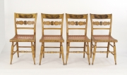 View 11: Set of Four New York Yellow Fancy Chairs with Benjamin Franklin, c. 1820